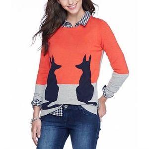 Crown & Ivy Colorblock Fox Sweater